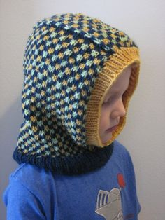 Free Knitting Pattern - Toddler & Children's Clothes: Kids' Dice Check Balaclava