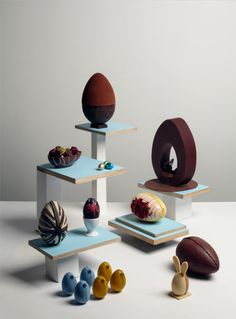 Are these all chocolate? Egg art.