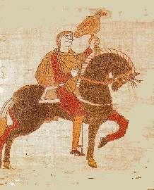 Harold el II de Inglaterra. Fue el último rey de la Inglaterra anglosajona desde el 6 de Enero hasta el 14 de Octubre de 1066. Le arrebató el trono el Rey Guillermo de Normandía.