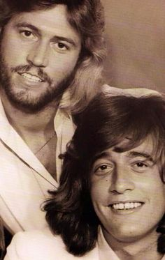 """Barry and Robin Gibb .... this totally makes me think of Justin Timberlake and Jimmy Fallon doin """"The Barry Gibb Talk Show"""" on SNL. classic"""