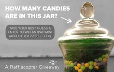 Welcome to the [Bring in the Spring] Candy Promotion Giveaway! Between now and April enter to win a iPad mini and a 6 month Rafflecopter business subscription (… and more! Looks Yummy, Gummy Bears, Candy Jars, Something Sweet, Jelly Beans, Ipad Mini, Yummy Treats, Giveaway, Food And Drink