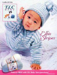 Coats & Clark - Fun & Free - Elfin Stripes Sweater & Hat