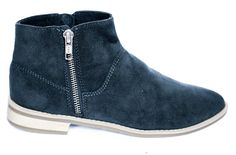 BERLIN, zip-up Bootie, fall boots, vegan boot, suede ankle boot - BHAVA NY
