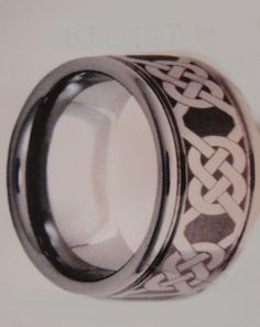Laser Celtic Men's Wedding Band Tungsten Carbide Lifetime Warranty and Exchange MADE in USA - call us for quote !!