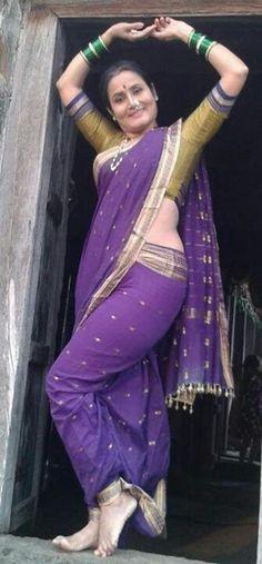 Maharashtrian sari style