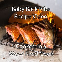 Baby Back Rib Recipe Cooked in Outdoor Wood Fired Oven