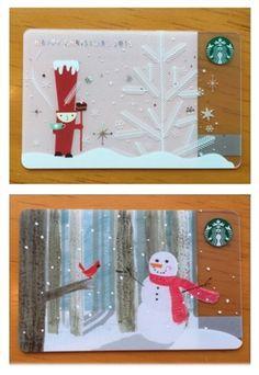 Starbucks KOREA 2015 CHRISTMAS Nutcracker Snowman 2 Card 2 Sleeve SET #Starbucks