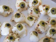The olive and mozerella eyeballs worked brilliantly!