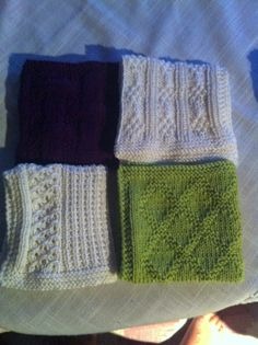 Strikka kluter. Knitting Patterns Free, Free Knitting, Homemade Potholders, Knitted Washcloths, Hairpin Lace, Dishcloth, Home Crafts, Hair Pins, Pot Holders