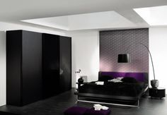 23 Admirable Wardrobe Designs To Inspire You : Elegant Dark Modern Wardrobe Design in Modern White and Black Bedroom Design