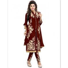 Buy Vraj Fashion Arjaan Maroon salvar suit by vraj fashion, on Paytm, Price: Rs.875?utm_medium=pintrest