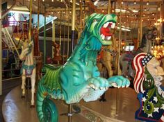 The 110-year-old carousel at Trimper's Rides is a standout on the Ocean City boardwalk. Constructed in 1902, the Herschel-Spellman spinner is the oldest continuously operating in the country.