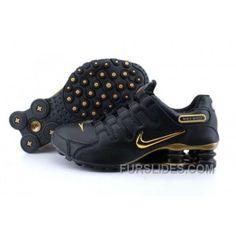 3920f4687d3c8d Men s Nike Shox NZ Shoes Black Gold Super Deals