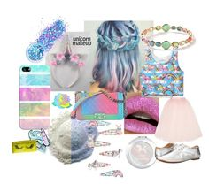 """""""Unicorn Makeup"""" by bethopolis ❤ liked on Polyvore featuring beauty, Lime Crime, Chanel, Ippolita, Casetify, In Your Dreams, Monsoon, Unicorn Lashes, Ballet Beautiful and BC Footwear"""