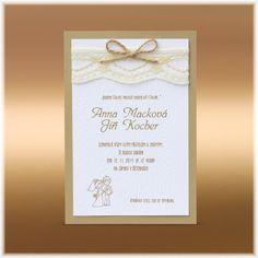 Vintage rustikální přírodní svatební oznámení se strukturou dřeva a z recyklovaného papíru  SK362