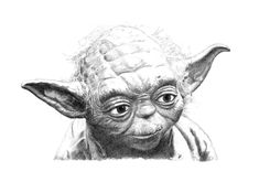 YODA pencil drawing by Cultscenes on Etsy