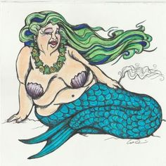 Even beautiful mermaids need to take a break every once in a while. To be honest, I am having a blast drawing these mermaids. It is true that beauty is in the eye of the beholder... So if all types of people are considered beautiful by an admirer, wouldn't the same rules apply to mermaids and mermen? The same old sexy body type on merfolk gets old too. I began drawing these in the spirit of celebrating diversity!! Keep your eyes peeled for more of these characters.   Smoke Break Mermaid is…