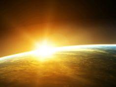 Space Sunrise iPad Wallpaper