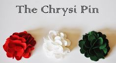 Make a Chrysi Flower pin or decoration for a coat lapel or scarf or etc.