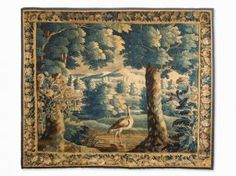 A Verdure Tapestry, Flemish, Late 17th C.