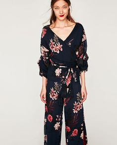FLORAL PRINT WRAP BLOUSE from Zara