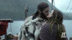 Vikings (series 2013 - ) Starring: Clive Standen as Rollo and Jessalyn Gilsig as Siggy.