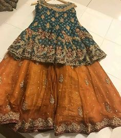 Green and golden mustard baby girls sharara dress designs 2018 for wedding party Are you looking for the best wedding sharara dress for your little girl? Here are the new styles of baby girls sharara dress designs 2019 for wedding.