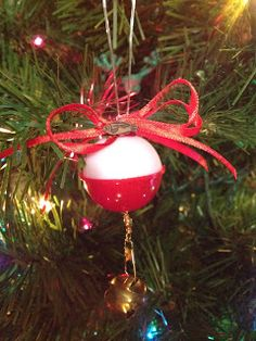 Cute Redneck / Manly Christmas Ornament. Cute and easy. You can make it glow! www.city2country.com
