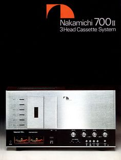 Nakamichi 700 Tri-Tracer cassette deck from 1977.