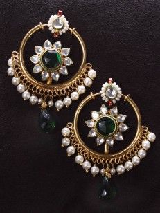 Chand Bali Pachi Pendant Set With Earrings