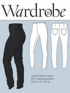 The Haute skinny pants are a super fitted high waisted pant with a facing and an invisible zipper in the left side. Fabric choice: Choose medium