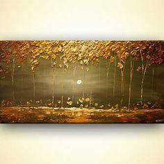 Buy beautiful landscape paintings, modern landscape paintings, canvas art and contemporary artworks. Colorful paintings of forests, trees, cloudy skies and other modern art. Choose your favorite landscape painting. Page 1 Canvas Painting Landscape, Abstract Landscape Painting, Abstract Art, Abstract Paintings, Forest Painting, Tree Paintings, Beautiful Landscape Paintings, Gold Leaf Art, Arte Pop