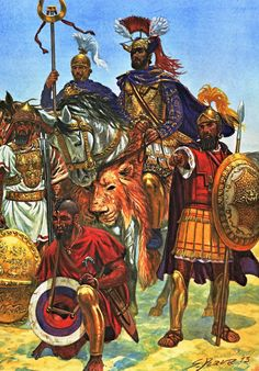 Hannibal with some Carthaginian warriors