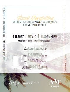 Event branding for Hawaii's AMA chapter.