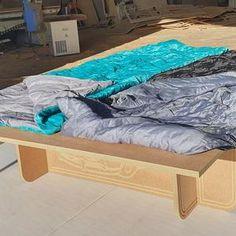 Sleeping Platform Truck Bed | Etsy Van Bed, Cargo Trailer Conversion, Camper Beds, Slide Out Shelves, Minivan Camping, Van Design, Camper Storage, Plywood Sheets, Sit On Top