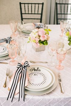 Photography : Krista Mason Photography | Floral Design : Petals LA | Florals : Brag Designs Read More on SMP: http://www.stylemepretty.com/living/2015/07/16/black-and-white-bunny-baby-shower/