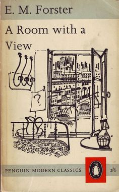 """""""A Room with a View"""" by E. Book cover illustration by David Gentleman (Penguin Modern Classics) Book Cover Art, Book Cover Design, Book Design, Book Art, Design Design, Graphic Design, Book Writer, Book Authors, Cool Books"""
