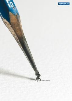 The Print Ad titled Chair was done by Leo Burnett Hong Kong advertising agency for product: Staedtler (brand: Staedtler) in Hong Kong SAR China. Creative Advertising, Advertising Poster, Advertising Campaign, Advertising Design, Funny Advertising, Ads Creative, Advertising Ideas, Pencil Carving, Grafik Design