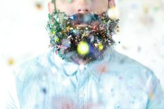Photographer Documents The Many Objects Her Husband's Beard Will Hold