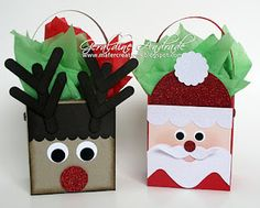 Stampin' Up!  Fancy Favor Box  Geraldine Andrade  Santa Tutorial