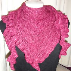 Sweet Heart is True Enough - Knitted for my oldest friend for Yule in Ruffle Scarf, Ruffle Blouse, Garter Stitch, Knitting Stitches, Ruffles, Yule, Heart, Annie, Ravelry