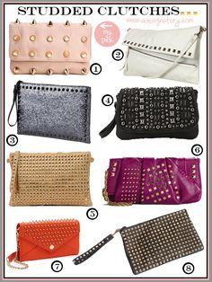 Stylish & Studded: 8 Pretty Clutch Bags