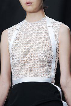 Monochrome Dress - sporty chic fashion details // Marios Schwab Spring 2014