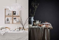 Decorating Home for Easter in White, Black, Pink