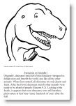 Includes links to dinosaur coloring pages with Scripture. Color online or print out and color. Good illustrations for portfolio scrapbooking #S01115