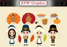 Thanksgiving Dolls Clip-art Set in a PNG format. Personal & Small Commercial use Clipart Images, School Projects, Mickey Mouse, Commercial, Thanksgiving, Clip Art, Scrapbook, Invitations, Dolls
