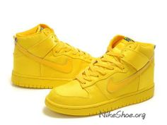 pretty nice 9982a a96d1 Discount Nike Dunk High Nylon Magazine Yellow Zoo York Shoes, Yellow Nikes,  Wholesale Nike