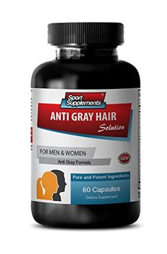 Nettle root extract powder  Anti Gray Hair  Anti gray hair serum 1 Bottle  60 Capsules >>> Learn more by visiting the image link.