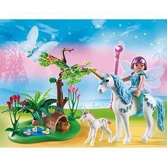 Playmobil Fairies Fairy Aquarella In The Unicorn Meadow