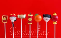 Chinese New Year cake pops To celebrate Chinese New Year, Celebrations created this charming collection of cake pops, adorably portraying aspects of Chinese culture, inclusive of red envelopes, firecrackers and lanterns. Chinese New Year Desserts, Chinese New Year Cookies, Chinese New Year Party, New Year's Desserts, New Years Party, Cake Pops, Chinese Celebrations, New Year's Cupcakes, Chinese Christmas